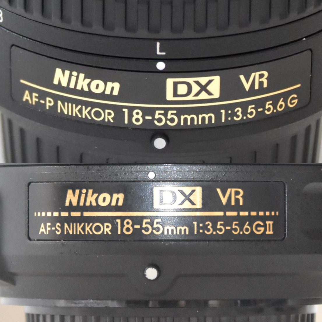 NIKKOR AF-SレンズとAF-Pレンズを比較