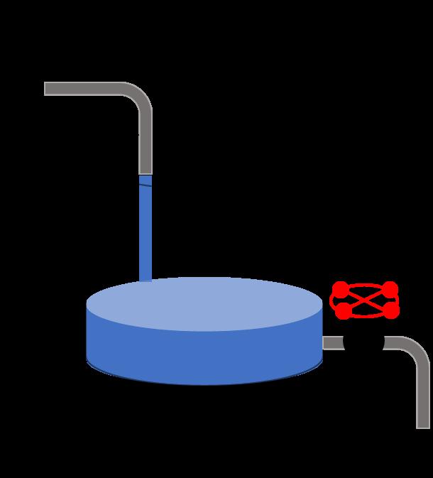 タンクやお風呂の貯水・水抜きシミュレーション