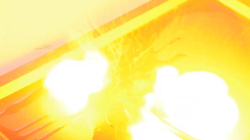 水素と酸素の反応による爆発実験